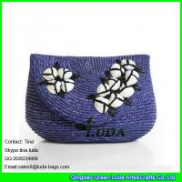 Wholesale LUDA fashion lady straw clutch bag seashell decoration wheat straw handbag from china suppliers