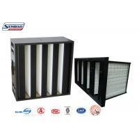 Wholesale Ventilation System Mini Pleat V Bank Filters with Black ABS Plastic Frame from china suppliers