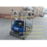 Wholesale 2.2kw Vacuum Cow Breast Mobile Milking Machine With 4 Cluster Group from china suppliers