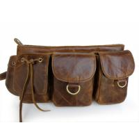 Wholesale Wholesale Price Vintage Leather Popular Unique Design Men's Fanny Waist Pack Purse #6101 from china suppliers