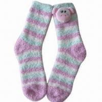 Wholesale Cozy Yarn Socks with Cute Dog, Made of Polyester, Available in Various Styles and Colors from china suppliers