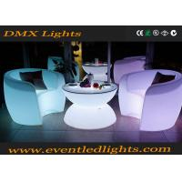 Wholesale Muti-colors changing remote control Light Led Rotational Outdoor Bar LED Tables And Chairs from china suppliers