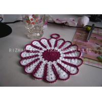 Wholesale Multi - Petals Shape Crochet Glass Coasters Handmade Acrylic Crochet Cup Mat from china suppliers