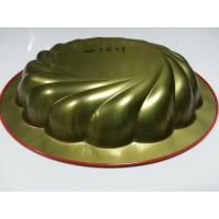 Wholesale Red Metal Tin Serving Trays , Round Water / Food Serve Tray For Restaurant from china suppliers