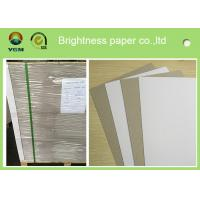 Single Side Coated Grey Back Box Board Paper , High Brightness Board Stock Paper
