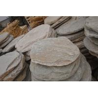 Wholesale Natural Oyster Stepping Stone Slate Stepping Pavements Quartzite Garden Paving Round Stone from china suppliers