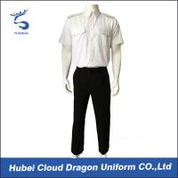 Wholesale OEM ODM White Security Guard Clothing Adjustable Cuff ​With Embroidered / Printed Logo from china suppliers