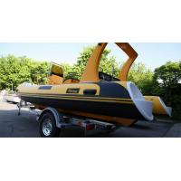 Wholesale 580cm orca hypalon commercial   large rear space colorfull hull  inflatable rib boat rib580B with double engines plate from china suppliers