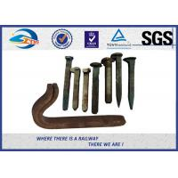 Wholesale Q235 35# 45# Railroad Tie Screw Spike Timber Spike Rail Dog Spike from china suppliers