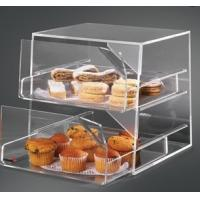 Wholesale 2 Tier Acrylic Bakery Display Case , Perspex Food Display Cabinets from china suppliers