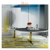 Buy cheap Colorful Natural Marble Top Metal Base High End Sofa Side Coffee Table from wholesalers