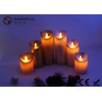 Wholesale Warm White Moving Flame Battery Candles , Flameless Outdoor Candles With Remote from china suppliers