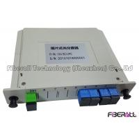 Wholesale Single Mode Optical Fiber Splitter PLC In LGX Box With G657A1 Fiber And SC / UPC Adapter from china suppliers