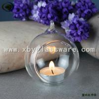Wholesale Haning Glass candle holder glass ball candlestick from china suppliers