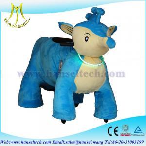 Wholesale Hansel bike animations plush animals motorized stuffed animals plush wheeel from china suppliers