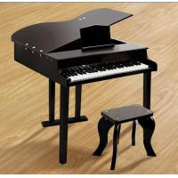 Wholesale 49 Key Classic Mini Grand Toy Wooden Piano Black For Toddlers FW49 from china suppliers