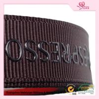 "Wholesale 5 / 8"" Custom printed grosgrain ribbon Brown color With Company Logo from china suppliers"