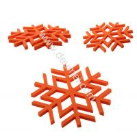 Buy cheap Kitchen Decorative Heat-resistant Silicone Trivet Snowflake Shape Table Mat Blue Color Pla from wholesalers