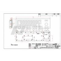 Quality Rear Mounted Industrial Keyboard With Trackball For Public , 5V DC , 10mA for sale
