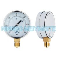 Wholesale Chrome steel and brass material gas station tire pressure gauge measurement from china suppliers