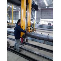 Quality Pole Lamp Post Flange Positioning Machine With Automatic Levelling And Centering for sale