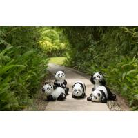 Quality Polyresin Panda Garden Decoration  recycling materials for sale