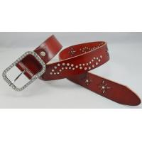Wholesale fashion accessories cow leather women belts with crystal from china suppliers