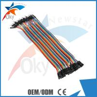 Wholesale 1 Pin-1 Pin Female To Male Jumper Wires For Arduino , 40pcs In Row Dupont Cable 20cm from china suppliers