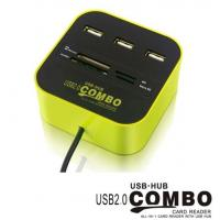 Wholesale COMBO USB HUB,all in 1 card reader with USB HUB from china suppliers