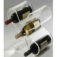 Wholesale Retail Shop Custom Acrylic  Wine Display Racks With Handle ,  Easy moving from china suppliers