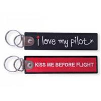 Wholesale I Love My Pilot Remove Before Flight Fabric Embroidery Keychain from china suppliers