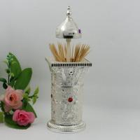 Wholesale Shinny Gifts Vintage Silver Metal Toothpick Pencil Holder from china suppliers