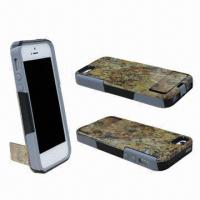 Wholesale Composed Rubber IMD Cases for iPhone 5 with IMD Kick-stand  from china suppliers