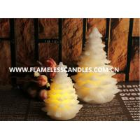 Wholesale Flameless LED Votive Candles With Wax , Ivory Christmas Tree Candle from china suppliers