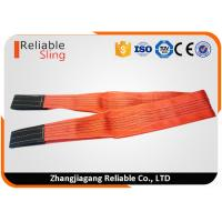 Wholesale 5 Ton Red Flat Polyester Webbing Sling , High Temperature Resistant Duplex Webbing Sling from china suppliers