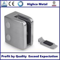 Stainless Steel Square Glass Clamp with Flat Back 70x55mm Fit 10-15mm Glass for Staircase Glass Railing