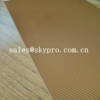 Wholesale Abrasion Resistant Natural Crepe Shoe Sole Rubber Sheet Corrugated Pattern from china suppliers