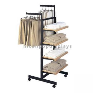 Wholesale Custom Design Metal Wood Garment T - Shirt Clothing Display Racks Flooring from china suppliers