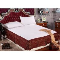 Wholesale Full Size Bed Skirts With Split Corners , Classic Wrap Around Bed Skirt from china suppliers