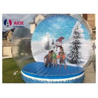 Wholesale Winter Air Snow Globes Stand Inflatable Holiday Decor inside Transparent Snow Balloon from china suppliers