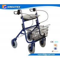 Wholesale Economy Durable Steel Folding Rollator Walker with Four Wheel For Handicapped from china suppliers