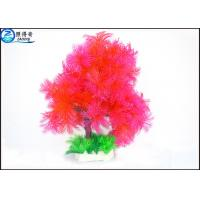 Wholesale Little Lush Trees Plastic Simulation Fish Tank Plants With Red / Green / Blue Customized from china suppliers