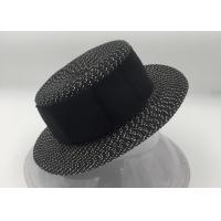 Buy cheap Summer Fedora Panama Straw Hats with Black Band from wholesalers