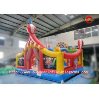 Buy cheap 0.55mm PVC Product Inflatable Bouncer House With Slides , SGS certificate from wholesalers
