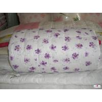 Wholesale Purple Floral Patterned 100 % Cotton Outer Fabric Single Custom Bed Quilts from china suppliers