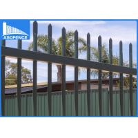 Wholesale Flat / Spear Top Security Fencing Panels For Private Grounds Corrosion Resistance from china suppliers