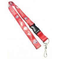 Wholesale 3 Color Cool Red Nylon Neck Key Strap With Colorful Logo J Hook Key Ring from china suppliers