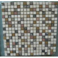Wholesale White Black Blue And Brown Mixed paving stone mosaic from china suppliers