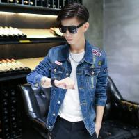 Wholesale Winter Comfortable Soft Mens Jean Jackets , Warm Custom Embroidered Jackets from china suppliers