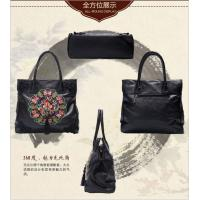 Quality 4 Colors Tassel women Embroidery shoulder bag with national element and long strap crossbody bag high quality large size for sale